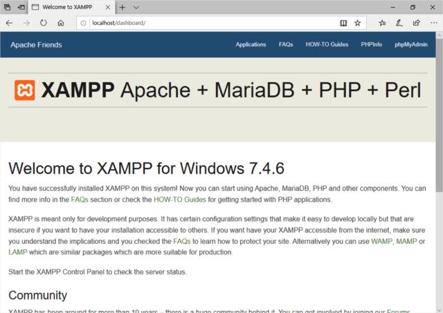 Apacheの起動・停止 - XAMPPの使い方