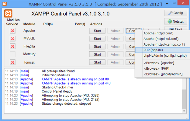 xampp-php-ini-file-version-1