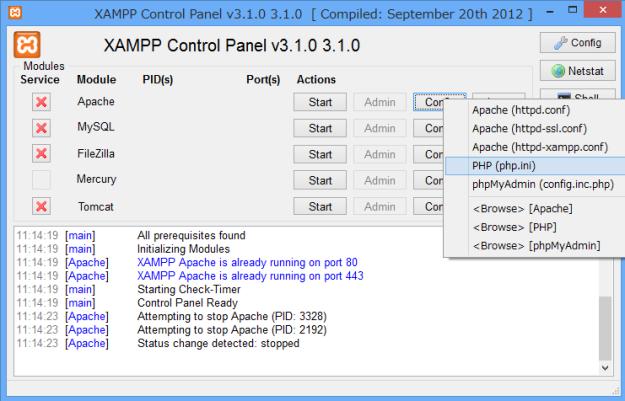xampp-php-ini-file-version-1