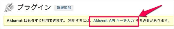 WPプラグイン「Akismet」のAPIキーの取得方法と有効化09
