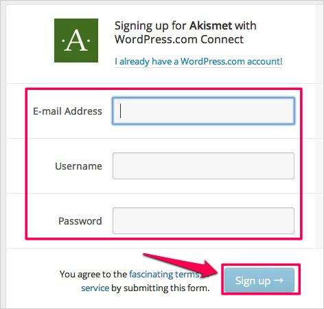 WPプラグイン「Akismet」のAPIキーの取得方法と有効化03
